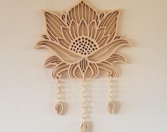 Wooden Hamsa Wall Decor 3d Printed Etsy In 2020 Wall Decor Lotus Design Prints