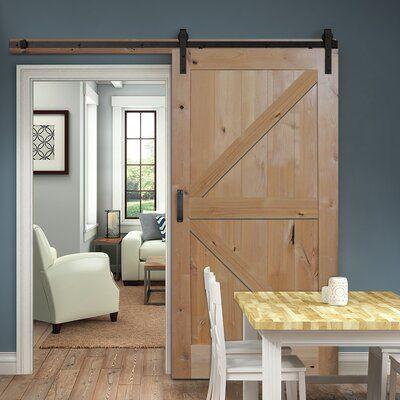 Verona Home Design Paneled Manufactured Wood Finish Knotty K Plank Barn Door Size 36 X 84 Finish Brown House Design Barn Style Doors Interior Barn Doors