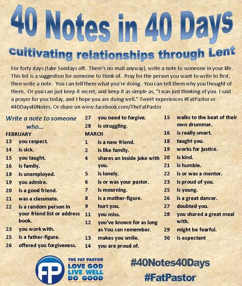 40notes40days
