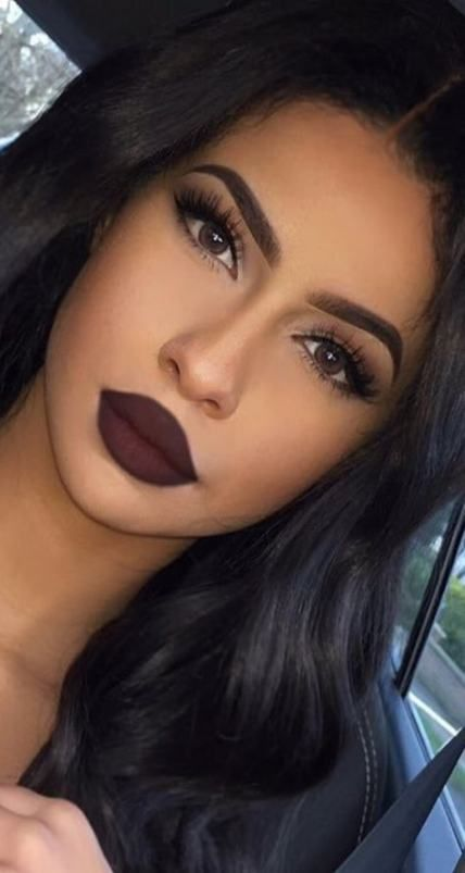 Makeup Dark Queen Eyebrows 20 New Ideas Dark Makeup Looks Black Hair Makeup Dark Makeup