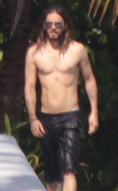 Jared Leto shirtless...