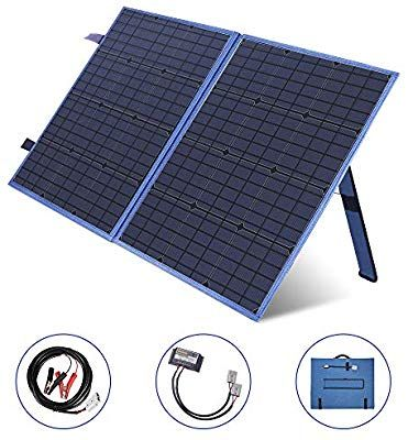 Amazon Com Megsun 100w Portable Solar Panel Kit 12v Solar Battery Charger With Usb Devi In 2020 Portable Solar Panels Solar Battery Charger Solar Generator