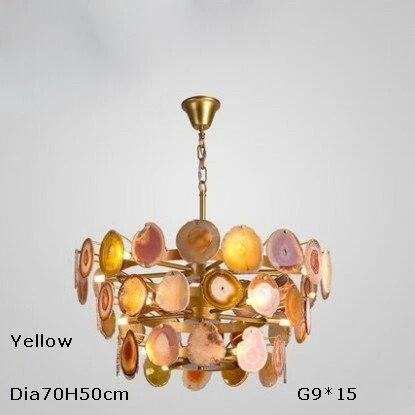 Led G9 Postmodern Iron Agate Designer Led Lamp Led Light Pendant Lights Pendant Lamp Pendant Light For Dinning Room Foyer Store In 2020 Blue Lamp Shade Home Lighting Lighting Inspiration