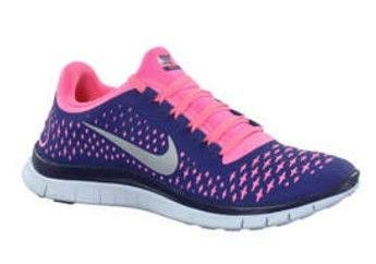 the best attitude 9f537 72a91  esty BK567 Womens Nike Free 3.0 V4 Royal Blue, Pink, Silver Logo Running  Trainers