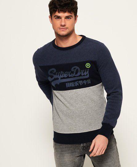 Superdry Vintage Logo Panel Sweatshirt   Mens sweatshirts