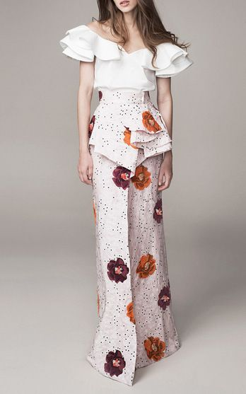 Everything about these ruffles are just gorgeous. I can't wait to dig into ruffles! Johanna Ortiz Look 6 on Moda Operandi