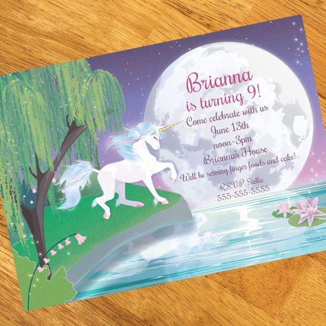 Unicorn Birthday Personalized Invitation