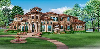 Plan 36427tx Mediterranean Mansion House Plan Mediterranean Mansion Mansions Homes Mansions
