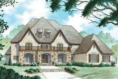 Traditional Plan 2 500 Square Feet 4 Bedrooms 3 5 Bathrooms 8318 00047 In 2020 Luxury House Plans Luxury Plan House Plans