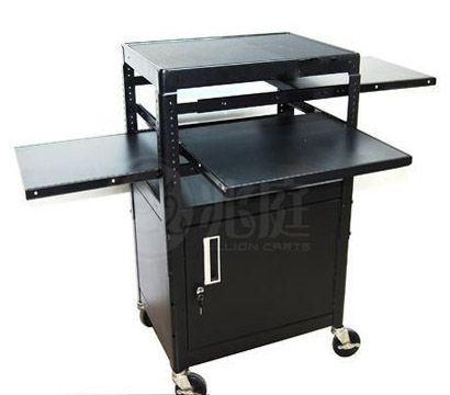 Dual Shelf Projector Cart With Cabinet Computer Projector Projector Shelves