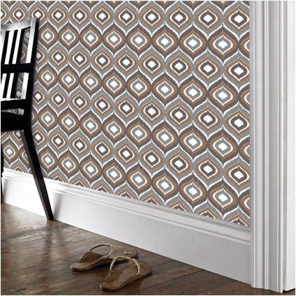 Deco Mode behang vlies 'Ikats Retro' wit/orange/grijs