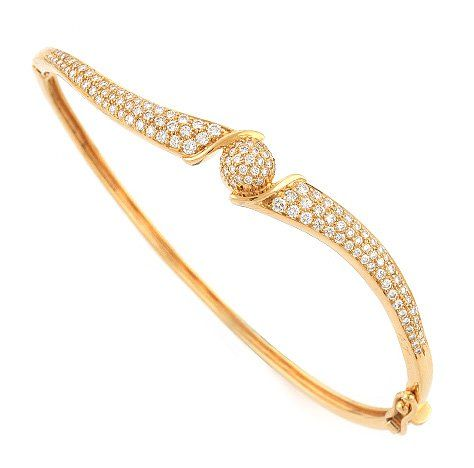 Amna Diamond Bracelet Made in Real Diamond and 18 kt yellow
