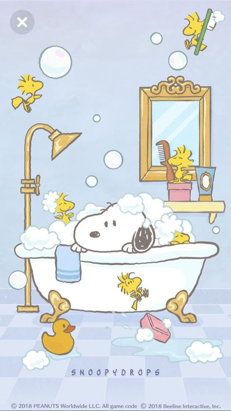 Snoopy in the 🛁