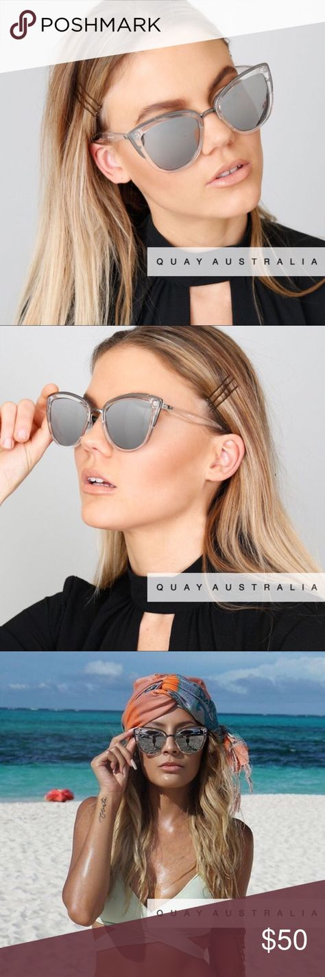 f9124760d51 QUAY My Girl Sunglasses Clear   Silver Sweet meets sassy in the My Girl Cat-