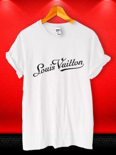 New 1lv Luis Vuons1 Famous Fashion Brand Logo Tee Casual T Shirt S
