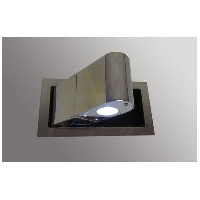 Flush LED Bedside Reading Light Bringing In This Metal Finish With Cool Palette