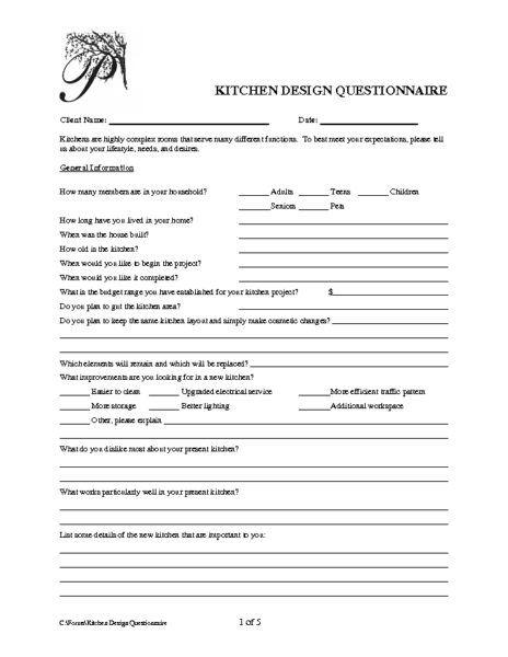Kitchen Design Questionnaire Kitchen Design Questionnaire  Kitchen  Pinterest  Kitchen