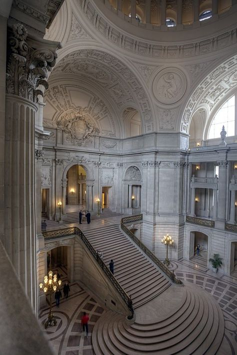 San Francisco, City Hall, Stairs, Interior, Architecture photo ideas from Amazing Stairs Ideas Architecture Baroque, Beautiful Architecture, Beautiful Buildings, Architecture Design, Beautiful Places, Stairs Architecture, Garde Corps Design, Home Shooting, Photographie Portrait Inspiration