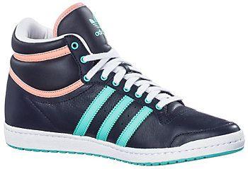 title>adidas Top Ten Hi Sleek Sneaker Damen navymintrose