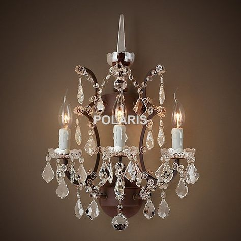 Wall Sconce Lamp Light Modern Art Decor Vintage Crystal Chandelier