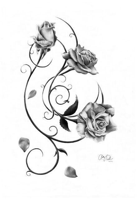 Ab 1001 Ideen und inspirierende Bilder zum Thema Rosen Tattoo – Tattoos – From 1001 ideas and inspiring pictures about roses tattoo – tattoos [.