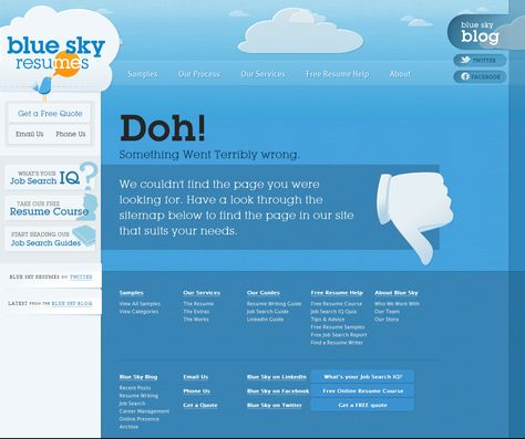 Blue Sky Resumes Error Message Error Page Pinterest - blue sky resumes