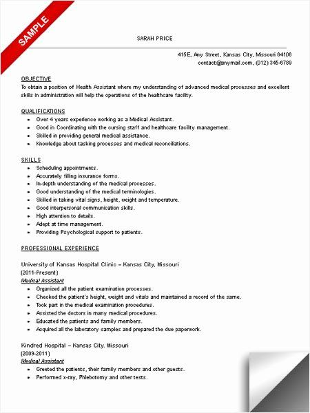 23 Medical Assistant Resume Objective Examples In 2020 Medical