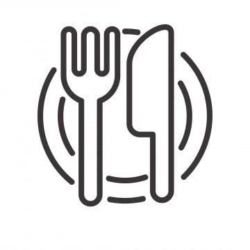 Knife And Fork Vector Illustration With Simple Line Design Suitable For Restaurant Icon Icon Restaurant Fork Png And Vector With Transparent Background For F Restaurant Icon Food Logo Design Eat Logo