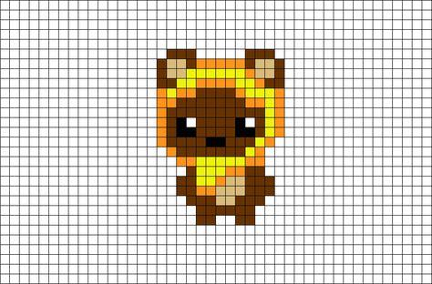 Ewok Star Wars Pixel Art Pixel Art Star Wars Crochet Ewok