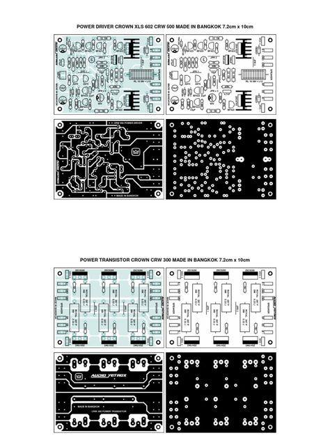 Pcb Power Driver Xls 602 Crown Crown Amplifier Audio Amplifier Electronics Circuit
