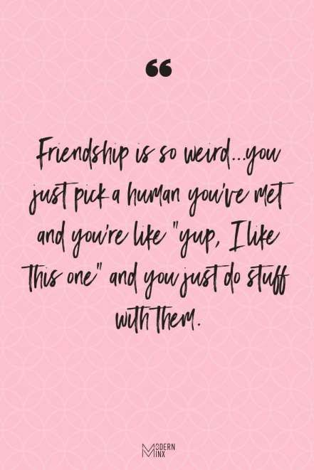 18 Quirky Friendship Quotes In 2020 Short Funny Friendship Quotes Friendship Quotes Funny Friendship Humor