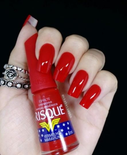 43+ ideas nails acrylic designs unique red for 2019