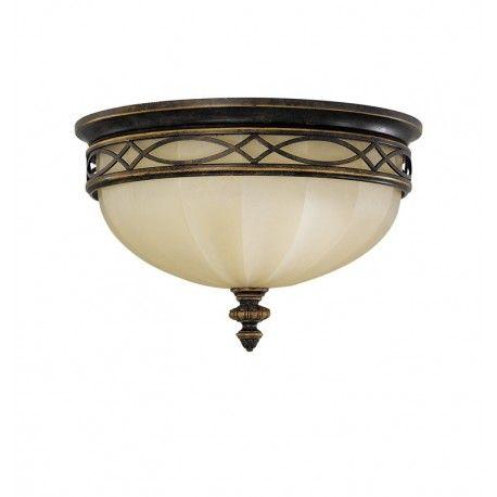 Ten Klasyczny Plafon Charakteryzujacy Sie Ponadczasowym Mlecznym Kloszem Oraz Nietuzinkowymi Zdobieniami Ze Dome Ceiling Antique Bronze Flush Mount Lighting