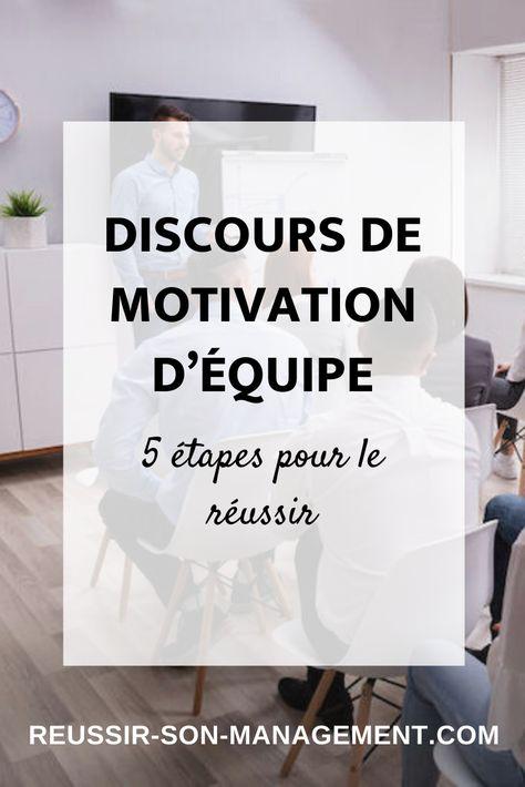 Discours de motivation d'équipe : 5 étapes