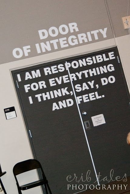 Integrity....We need This Door in the USA today...........