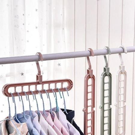 Clothes Coat Hanger Organizer Multi Port Support Baby Clothes Drying Racks Plast Space Saving Hangers Clothes Drying Racks Clothes Hanger