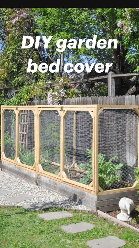 DIY garden bed cover