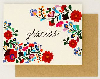 Destination Wedding Thank You Cards - Gracias - Colorful Mexican Embroidery Inspired – Summer Wedding Card (Rachel Suite) Mexican Embroidery, Hungarian Embroidery, Handmade Wedding Invitations, Destination Wedding Invitations, Mexican Invitations, Destination Wedding Save The Dates, Mexican Flowers, Wedding Cards Handmade, Motif Floral