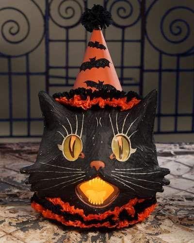 Bethany Lowe Sassy Cat Lantern
