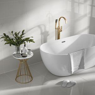 Wickes Seattle Cloud Glazed Porcelain Tile 600 X 300mm Wickes Co Uk Small Bathroom With Shower Wickes Wickes Bathroom Tiles