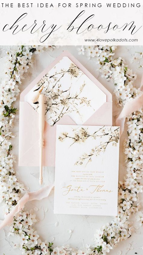 Bloosom wedding! Inivtations with letterpress and velvet ribbon #weddinginvitation
