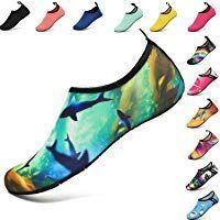 VIFUUR Wassersport Schuhe Barfu/ß Quick-Dry Aqua Yoga Slip-on f/ür M/änner Frauen Kinder