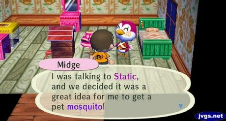 Midge S Mosquito Animal Crossing Animal Gifs City Folk