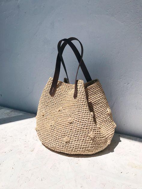 Crochet PATTERN Raffia Bag Pattern Small Crochet Bag   Etsy