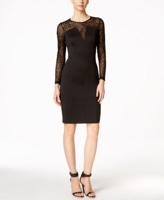 Calvin Klein Petal Sleeve Sheath Dress