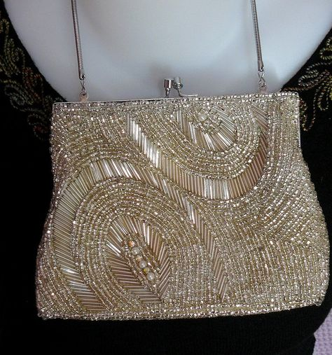 vintage beaded evening bag by The Nostalgia Fairy on flickr
