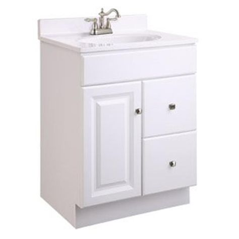 Design House 545004 Wyndham White Semi Gloss Vanity Cabinet With 1
