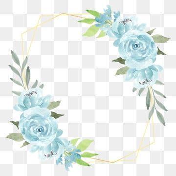Watercolor Blue Rose Flower Rustic Frame Floral Rose Rustic Png Transparent Clipart Image And Psd File For Free Download Rose Illustration Flower Clipart Flower Frame