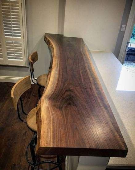 57 Trendy Breakfast Bar Against Wall Desks Wood Bar Top Live Edge Wood Desk Live Edge Wood