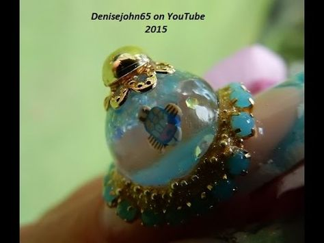 SNOW / WATER GLOBE NAILS ( REAL ) ----THE TUTORIAL * LEARN HOW * - YouTube